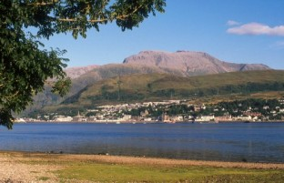 Blick auf Fort William